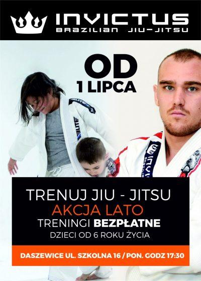 Akcja Lato – Bezpłatne zajęcia Jiu Jitsu dla dzieci w Mosinie i Daszewicach.